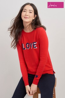 Joules Esha Embroidered Crew Block Jumper