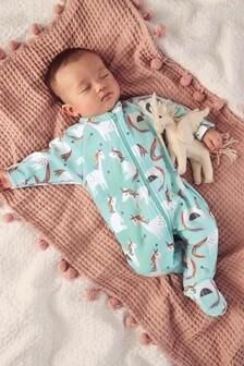 Unicorn Fleece Sleepsuit (0mths-3yrs)