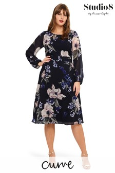 Studio 8 Blue Elise Floral Dress