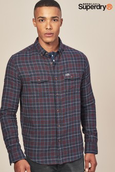 Superdry Burgundy Washbasket Check Shirt