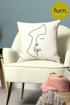 Furn Ecru Recycled Polyester Emile Cushion