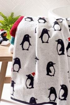 Serviettes à motif pingouin