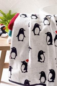 Полотенце с пингвинами