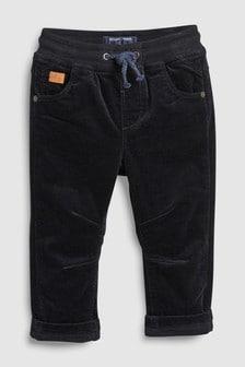Podložene hlače iz džersija z vrvico brez zadrge (3 mesecev–6 let)