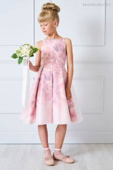 Angel & Rocket Pink Floral Mesh Dress