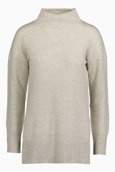 Premium Knitted Roll Neck Sweater With Cashmere