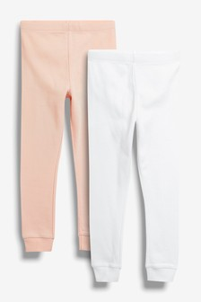 Set van twee thermische leggings (3-16 jr)
