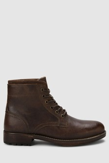 Leather Borg Lined Boot