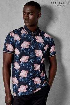 Ted Baker Navy Lively Printed T-Shirt