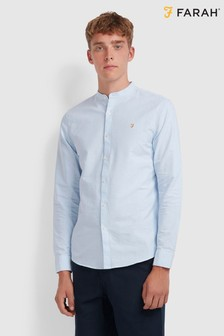 Farah Brewer Grandad Collar Shirt