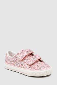 Glitter Touch Fastening Trainers (Younger)