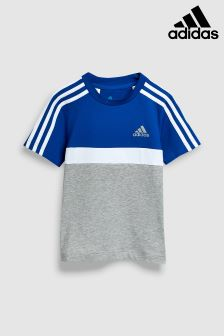 adidas Grey/Blue Block Tee