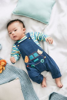 Character Cord Dungarees And Bodysuit Set (0mths-2yrs)