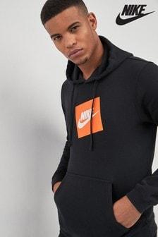 Nike Black Fleece Pull Over Hoody
