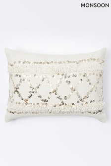 Monsoon Moroccan Sequin Cushion