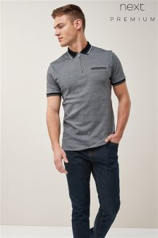 Premium Zip Neck Polo