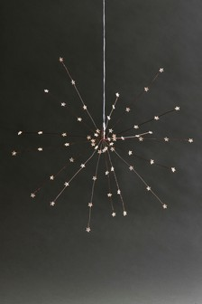 64 LED Copper Star Starburst Decoration
