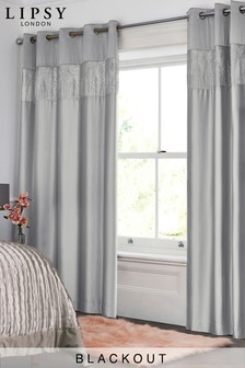 Blackout Curtains Cotton Velvet Check Blackout Curtains Next