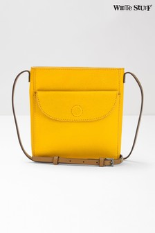 White Stuff Yellow Mimi Leather Cross Body Bag
