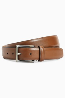 Fine Stitched Leather Belt