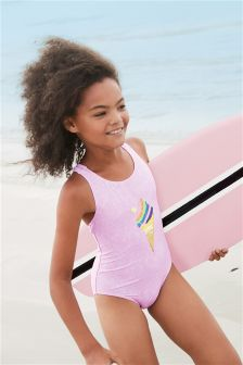 Sequin Ice Cream Swimsuit (3-16yrs)
