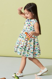 Dino Print Collar Dress (3mths-6yrs)