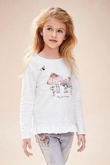 T-shirt à sequins et motif champignon (3-16 ans)
