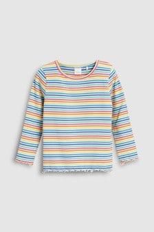 Stripe Flute Hem T-Shirt (3mths-6yrs)