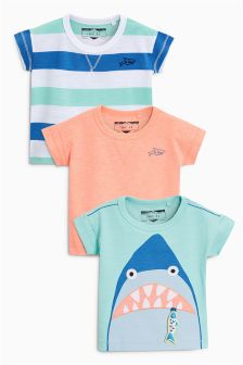 Shark T-Shirt Three Pack (3mths-6yrs)