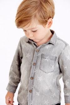 Long Sleeve Denim Star Shirt (3mths-7yrs)