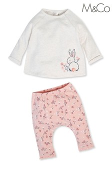 M&Co Kids Grey Bunny Top And Leggings Set