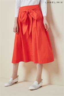 Mix/Isa Arfen Tie Waist Skirt