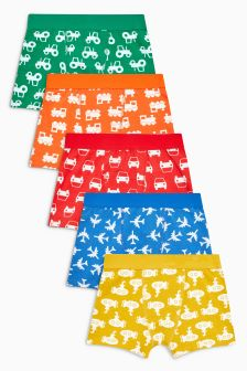 Transport Print Trunks Five Pack (2-14yrs)