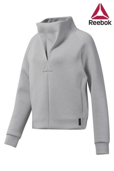 Reebok Grey Training Supply Cowl Neck Top