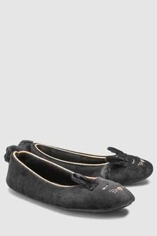 Velvet Bunny Character Ballerina Slippers