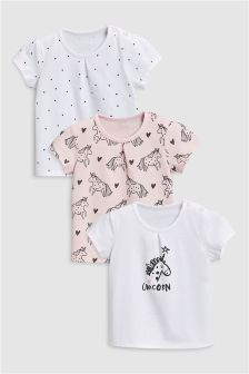 Unicorn T-Shirts Three Pack (0mths-2yrs)