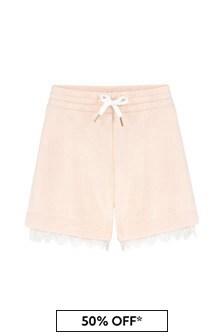 Chloe Kids Girls Pink Cotton Shorts