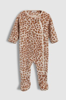 Animal Print Fleece Sleepsuit (0mths-3yrs)