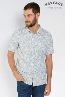 FatFace Blue Crookham Print Shirt