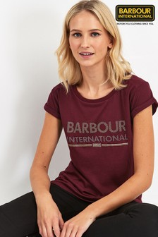 Barbour® International Rhubarb Strike T-Shirt mit Metallic-Logo