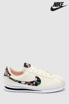 Nike Cream/Floral Cortez Youth Trainers