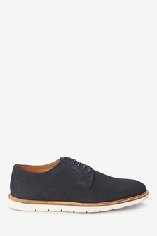 Suede Wedge Sole Derby