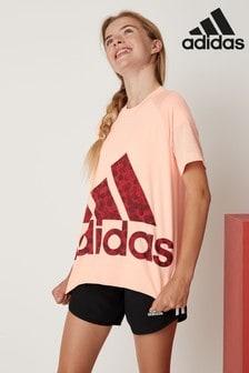 adidas Pink Large Logo Tee