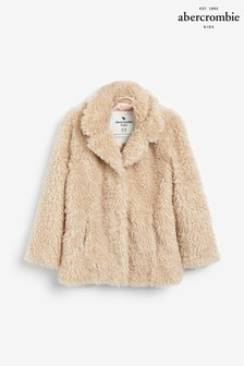 Abercrombie & Fitch Pink Teddy Coat