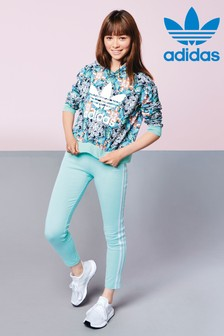 adidas Originals Mint Green 3 Stripe Legging