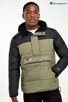 Куртка в стиле колор-блок с молнией до середины груди Champion