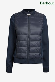 Barbour® Navy Port Hybrid Sweat Jacket