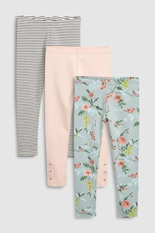Floral Leggings Three Pack (3-16yrs)