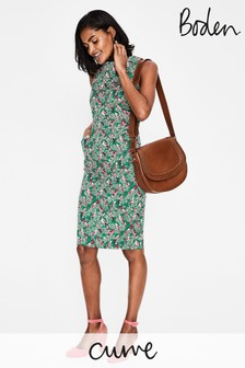 Boden Green Seam Detail Martha Dress