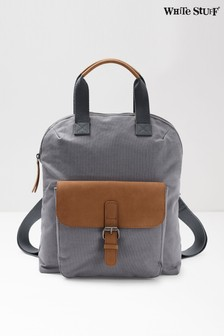 White Stuff Grey Bailey Canvas Backpack